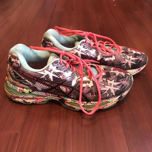 ab8b2243cb7 ASICS Gel Nimbus 18 Womens Comic Shoes Size 10.5
